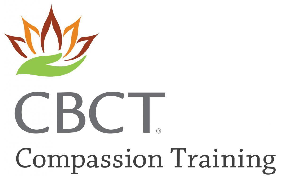 Hands holding flower logo CBCT Compassion Training